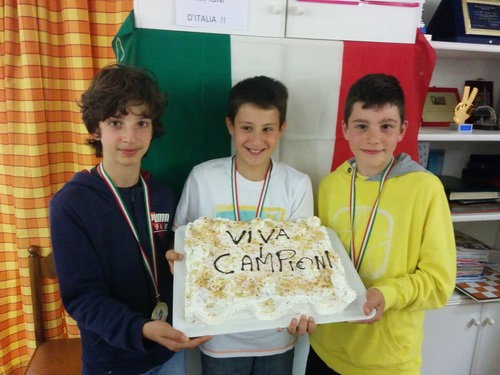 I tre componenti la squadra campione d'Italia