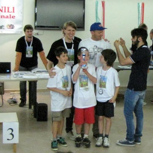 La squadra di Mori accompagnata da Diego Tranquillini
