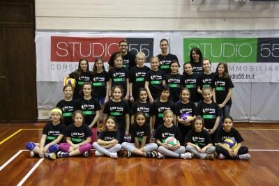 Le ragazze dell'Under 12 della Studio55 Ata