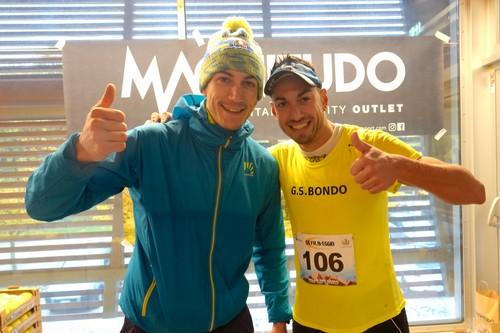 I vincitori del Sentiero 618 Michele Carlini e Mattia Zontini