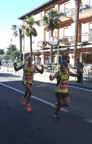 Claudio e Mario durante la gara