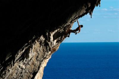 Pietro Dal Prà impegnato in una delle sue scalate