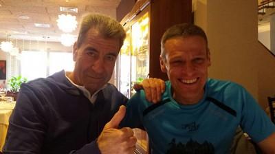 Gigi Lucin e Guido Accurti festeggiano a fine gara le loro ottime prestazioni