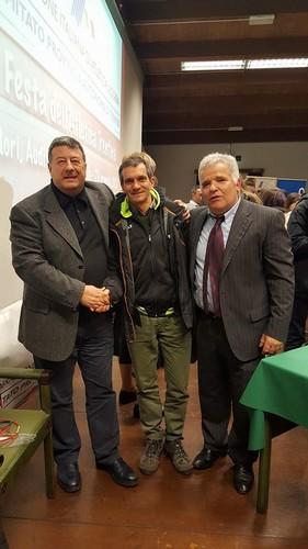 Il Presidente Mauro Bressan con Sergio Franceschinelli e Fulvio Viesi