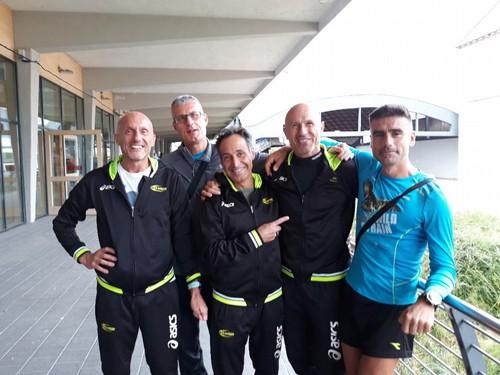 Alcuni atleti dopo la gara