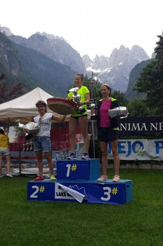 Eugenia sul podio femminile 10km