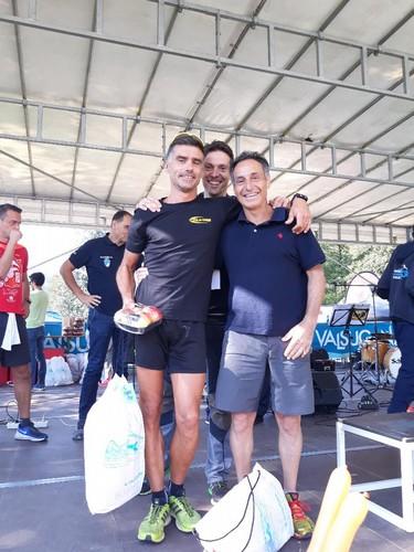 Premiazione staffetta maschile: Paolino e Mario