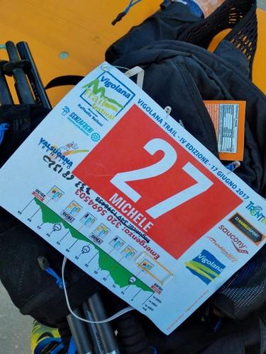 Pettorale Vigolana Trail di Michele