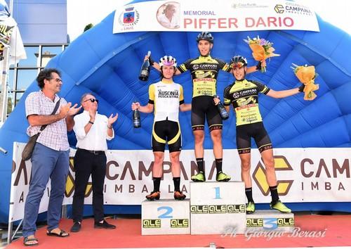 Il podio della prima edizione del Memorial Dario Piffer (foto Giorgio Berasi)