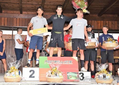 Lo junior della Campana Imballaggi Emanuele Bendetti sul terzo gradino del podio