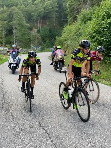 Sandri e Slomp in azione nell'impegnativo finale di gara