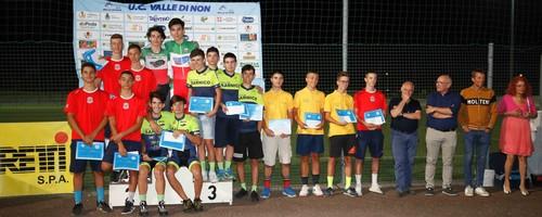 La premiazioni dell'inseguimento a squadre Allievi (foto Mauro Mendini)
