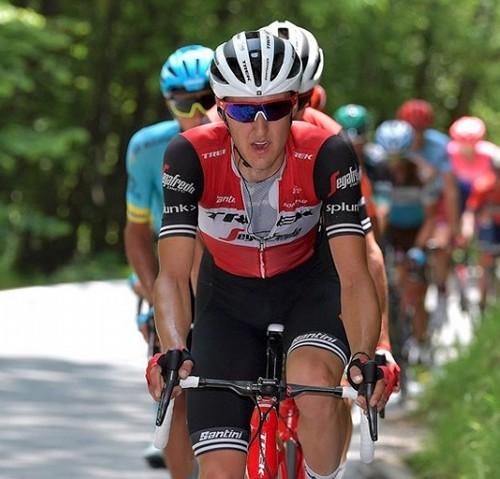 Il perginese Nicola Conci in azione all'ultimo Giro d'Italia