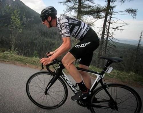 Davide Bais in azione con la maglia del Cycling Team Friuli