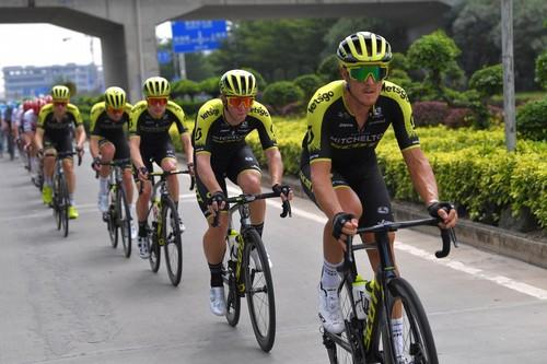 Matteo Trentin in azione nella corsa cinese (Getty Images)