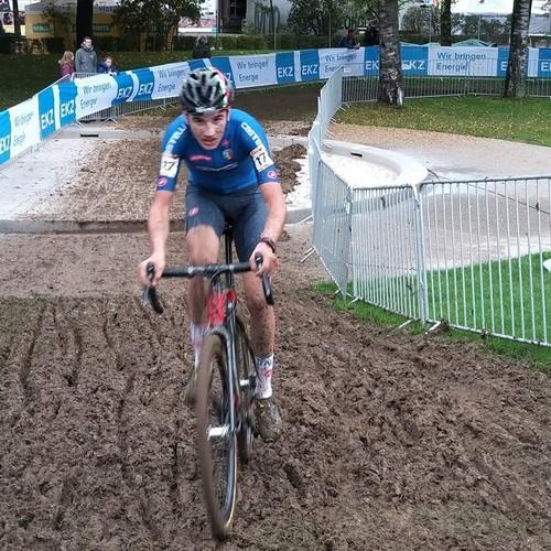 Lo junior del Vc Borgo Manuel Capra in maglia azzurra a Berna