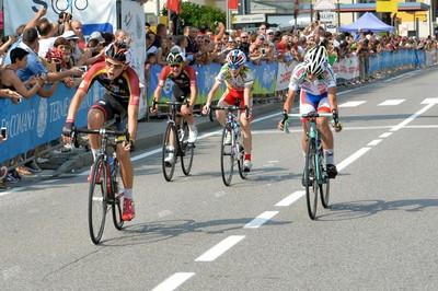Andrea Dalvai taglia il traguardo degli Italiani delle Terme di Comano 2016 al 2° posto