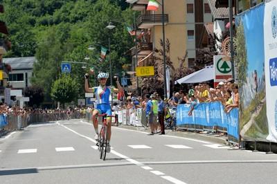 L'arrivo di Eleonora Gasparrini agli Italiani delle Terme di Comano del 2016