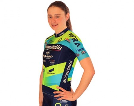 Letizia Borghesi con la maglia dell'Aromitalia Vaiano