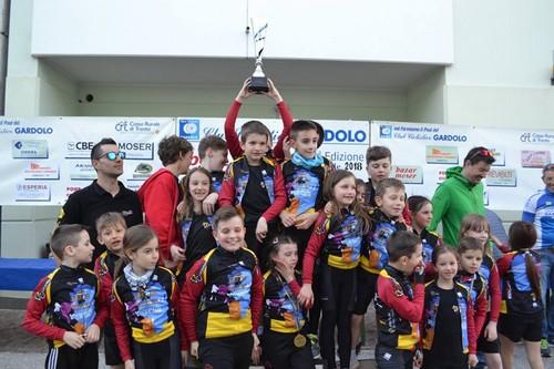 Le giovani leve del Veloce Club Borgo alle premiazioni di Boci 'n Bici