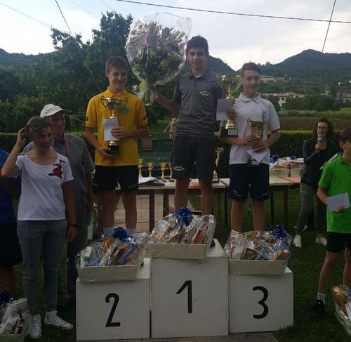Thomas Capra sul gradino più alto del podio a Sandrigo