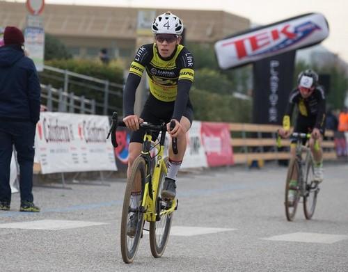 Andrea Dallago all'arrivo (foto A. Billiani)