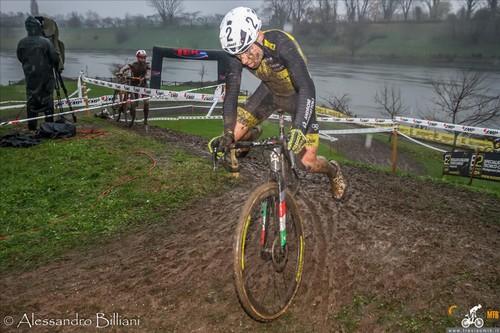 Jakob Dorigoni in azione a Brugherio (foto Billiani)