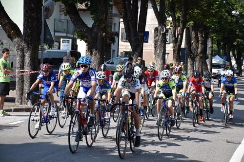 Giovanissimi in azione alla corsa disputata a Cembra domenica scorsa