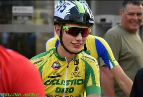 L'allievo della Ciclistica Dro Matteo Calovi (foto A. Ferlaino)