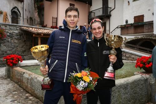 I due vincitori della prima CronoBleggio Valerio e Barale (foto R. Merler)