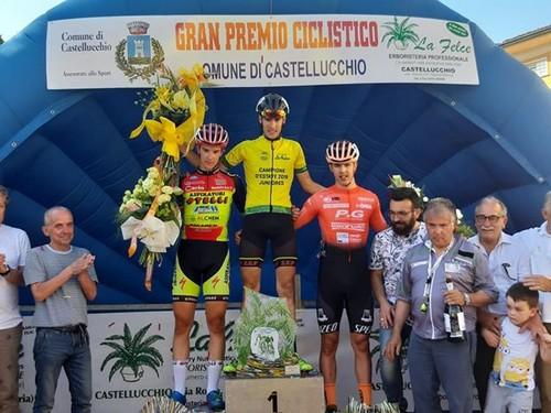 Il podio della gara di Castellucchio con Zambanini sul gradino più alto