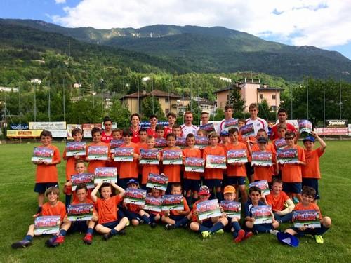 I partecipanti alla prima settimana del ViPo Soccer Camp