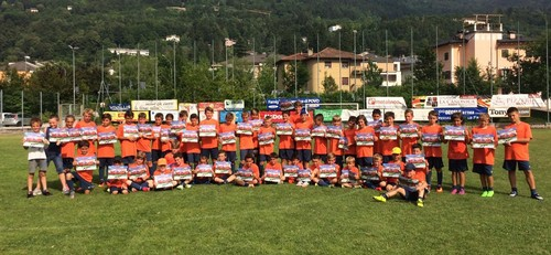 Il gruppo della seconda settimana del ViPo Soccer Camp