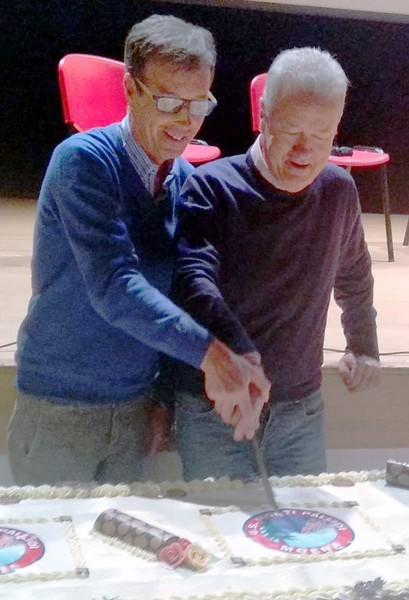 Carlo Ganz e Gianluigi Donei in una foto d'archivio