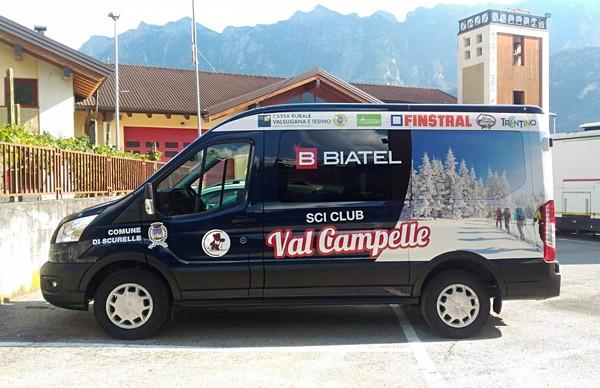 Il nuovo pulmino dello Sci club Val Campelle