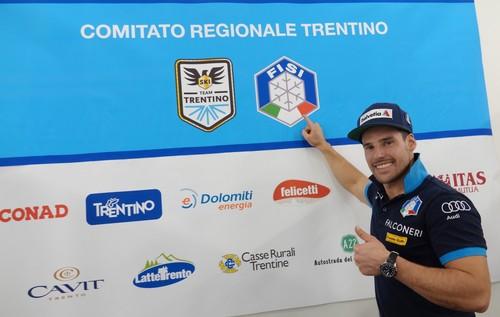 Luca De Aliprandini nello stand Fisi del Trentino