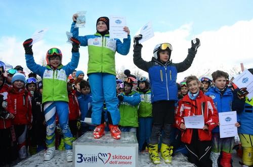 Il podio della categoria baby1 (foto il Gruppo Digitale)