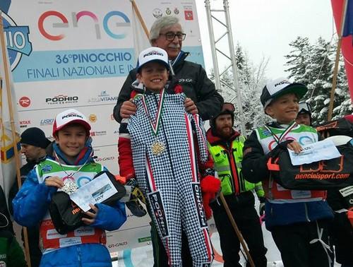 Il podio dei baby 2 con Timon terzo