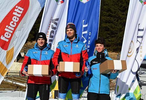 Il podio della under 18 con Tommaso Zanella terzo
