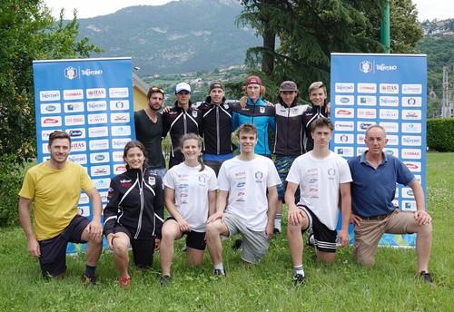 Il team Trentino di sci alpino al primo raduno a Trento