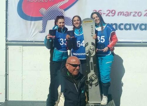 Valle e Groblechner sul podio di Piancavallo