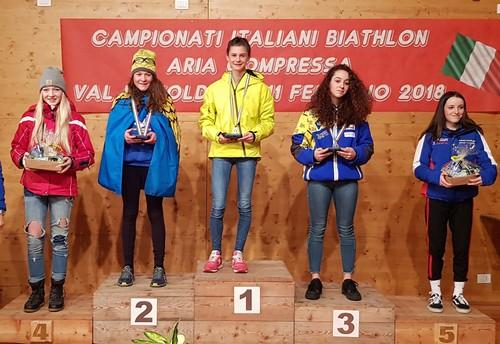 Fabiana Carpella sul gradino più alto del podio