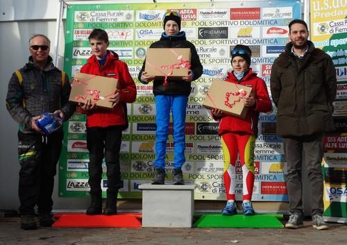 podio ragazzi Biathlon, Coppa Trentino a Casagrande e Carpella