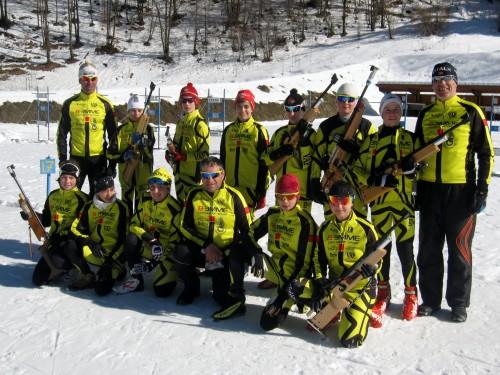 Il gruppo biathlon del Comitato Trentino