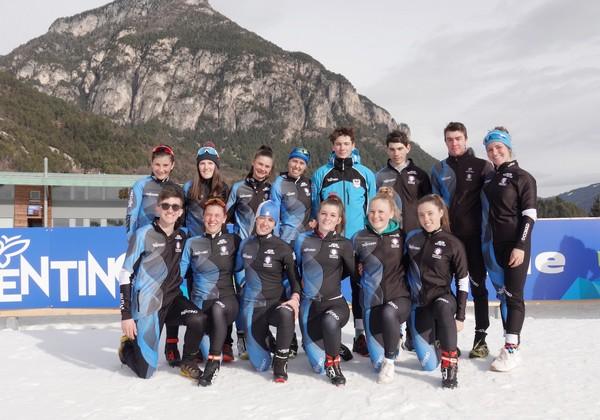 La squadra di biathlon del Comitato Trentino