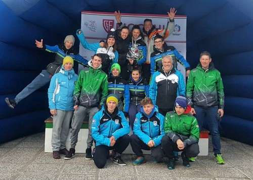 Il gruppo di atleti del Comitato Trentino