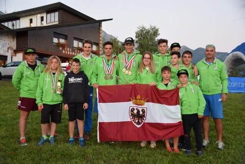 Il team Trentino di sci d'erba