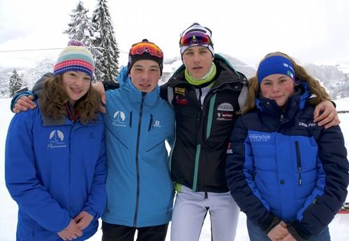 I campioni trentini Arianna Broch,  Nicola Romagna, Denis Doliana e Alessia Togni