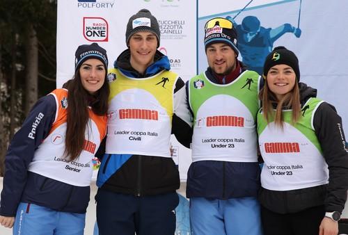 Da sinistra Ilaria Debertolis, Nicola Castelli, Simone Daprà e Francesca Franchi