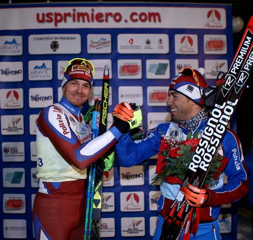 I vincitori della Ski Sprint Noeckler e Pellegrino